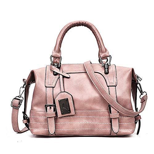 Tout main Gris sac Body QZTG pour Classic PU Pink Femmes Sacs Browntote Sacs À Blushing Rose Tout Fourre Grande Main Zipper Fourre Capacité à Cross Blush E7qq8
