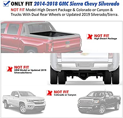 orealtrend Stake Pocket Covers Caps for Chevrolet Chevy Silverado GMC Sierra Pickup 2014 2015 2016 2017 2018 Truck Bed Rail Hole Plugs A Pair