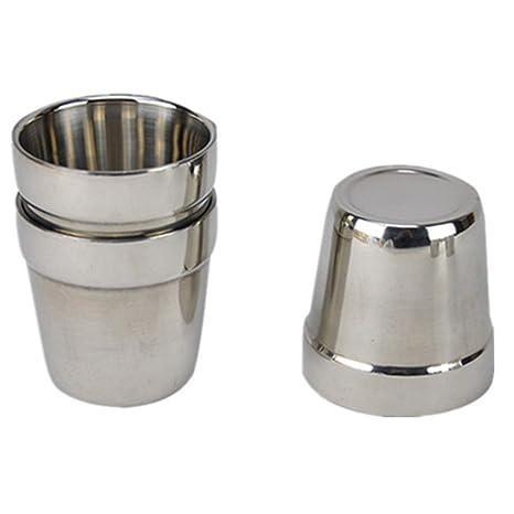 SUNHAO Taza de acero inoxidable acero inoxidable acero taza ...