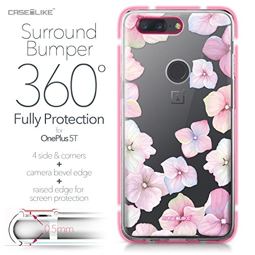 CASEiLIKE Funda OnePlus 5T , Carcasa OnePlus 5T, Cómic Títulos 2914, TPU Gel silicone protectora cover Hortensia 2257