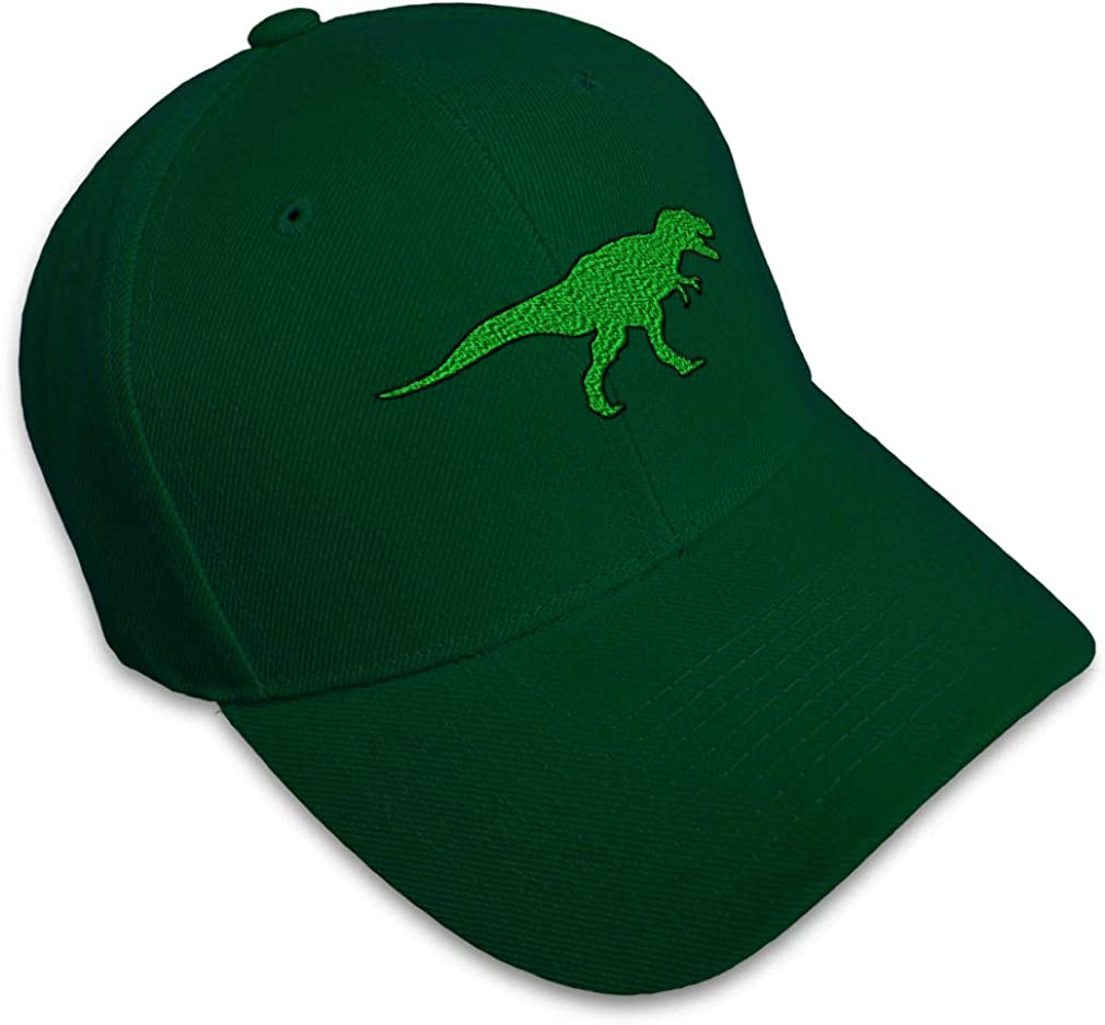Custom Baseball Cap Tyrannosaurus Rex Style C Embroidery Acrylic Strap Closure