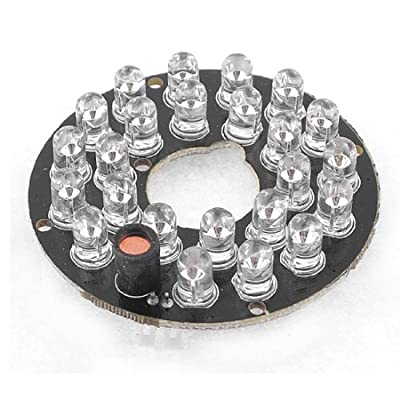 5mm 24 Red LED Bulbs 60 Degree Infrared IR Board for CCTV Camera