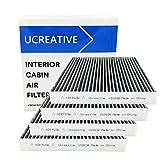 Ucreative U10134 (CF10134) Honda & Acura Premium Cabin Air Filter includes Activated Carbon (4-Pack)