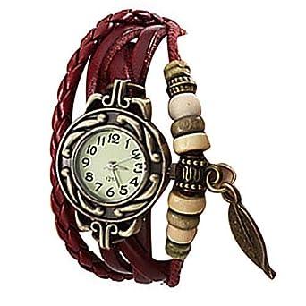 Lightinthebox @Charm Womens Leather Watch Bohemian Leaf Pendent ...