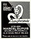 1958 Ad Atelier Marcel Dupuis 38 Blvd Voltaire Marketing Sales French Service - Original Print Ad