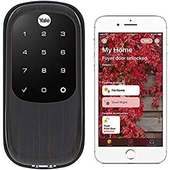Yale Assure Lock Key Free Touchscreen with iM1 - HomeKit Enabled - Works with Siri - Oil Rubbed Bronze (YRD246iM10BP)