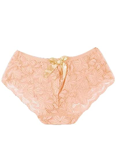 052ba07ee0a5 MYEDO Sexy Triangle Bikini Lace Cheeky Hipster Panties Breathable Briefs  Underwear Women, Apricot