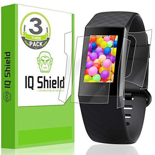 IQShield Fitbit Charge 3 Screen Protector [3-Pack], LiQuidSkin Full Body Skin + Full Coverage Screen Protector for Fitbit Charge 3 HD Clear Anti-Bubble Film