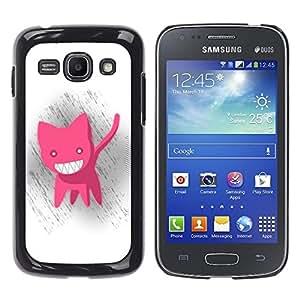 Be-Star Único Patrón Plástico Duro Fundas Cover Cubre Hard Case Cover Para Samsung Galaxy Ace 3 III / GT-S7270 / GT-S7275 / GT-S7272 ( Funny Cute Pink Cat )