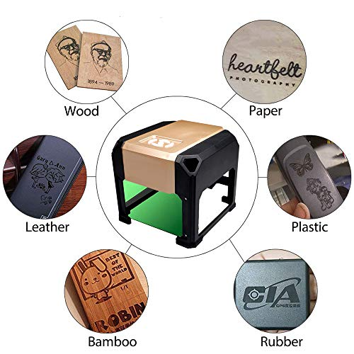 laser engraving machine Laser Engraver Printer 3000mW Mini desktop laser engraver machine DIY Logo laser engraver (3000mW) by NiocTech (Image #2)
