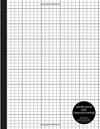 Specialty Journal Paper Composition Notebook Knitting Paper 4:5 40 Stitch / 50 Row Grid Pages Design Your Own Knitting Charts for Patterns: Blank Graphs Books for Knit Designs