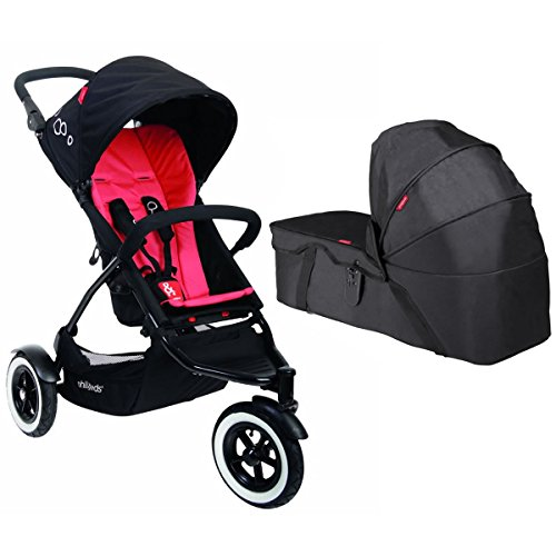 PHIL&TEDS DOT Stroller With Snug Carrycot - Chilli