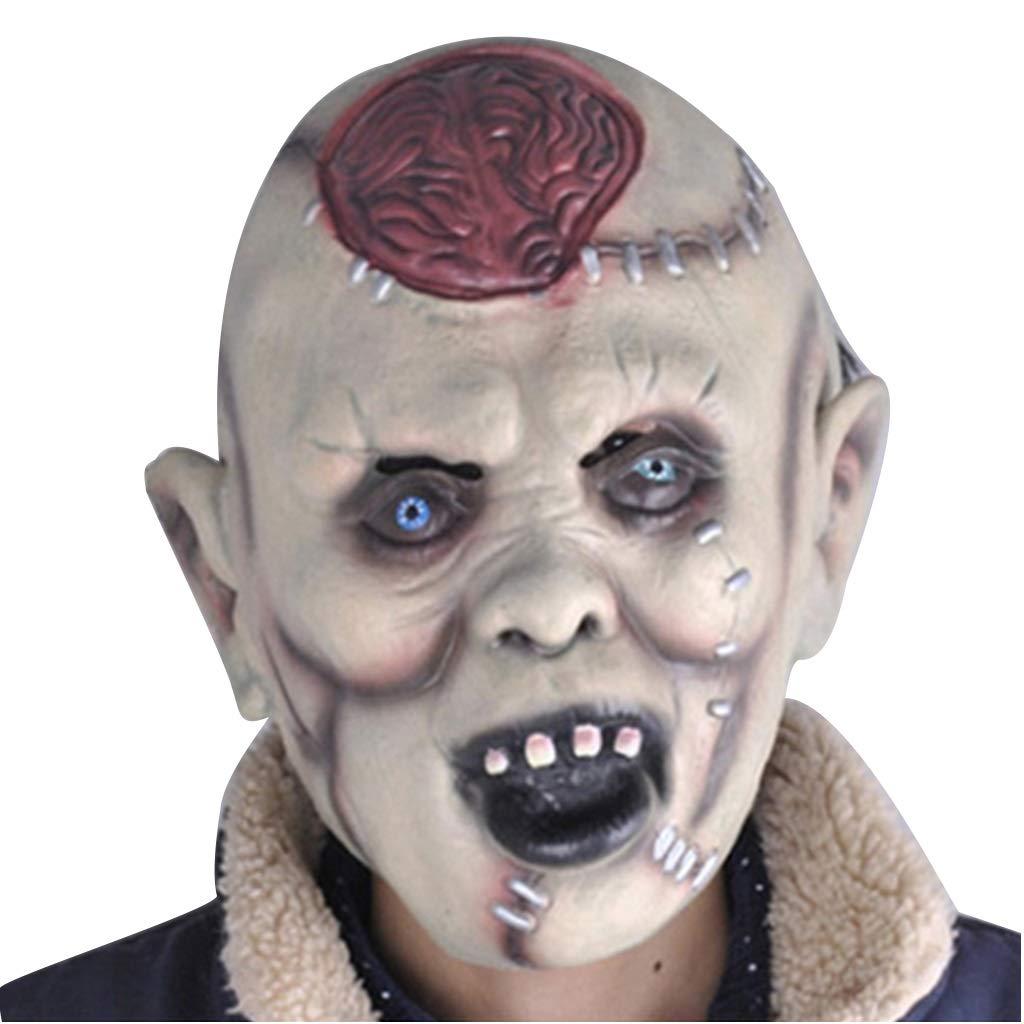Halloween Weihnachten Horror Grimasse Gehirn Maske Latex (Farbe Kopf Scary Gesicht Zombie Tanzshow Requisiten Masken (Farbe Latex   grau, Größe   25CM 10inch) 4c413c