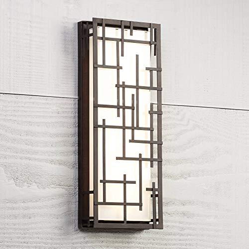 (Modern Lines Outdoor LED Wall Light Designer Lines Bronze Exterior 6 1/4