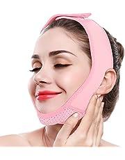 ZJchao Adelgazante Facial Máscara Vendajes de Cara para Adelgazar Papada Reductor y Antiarrugas Cuidado Facial Piel Compacto V-Line