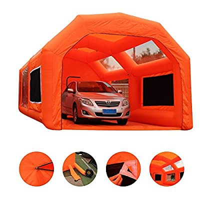Inflatable Paint Booth Mobile Automotive Portable Spray Booths DIY Paint Tent Removable Washable Filter Constant Air Flow