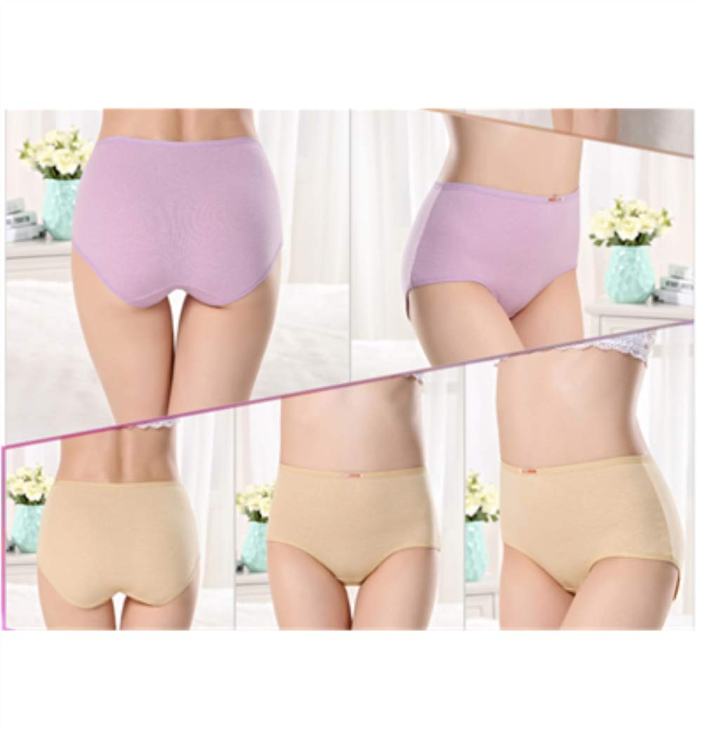 Gusbon Fashion 4 Pack Women's Underwear,Cotton Mid Rise Briefs Hipster Panties for Lady Girl