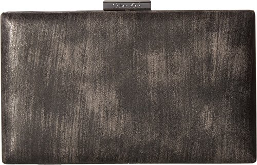 Evening Bag Womens Metallic Brushed Klein Gunmetal Calvin IfO7SS
