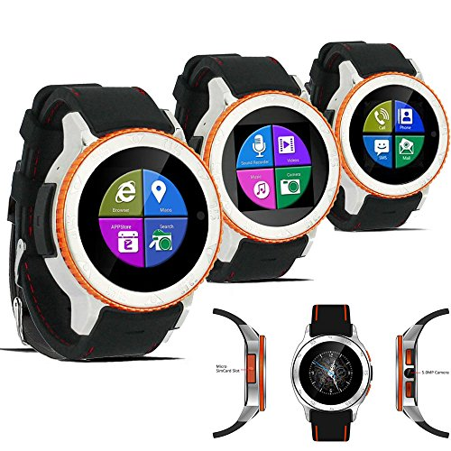 Indigi UNLOCKED Android 4.4 SmartWatch Cell Phone 3GWiFi Google Play Store Waterproof Smart Watches Unlocked Smartphone