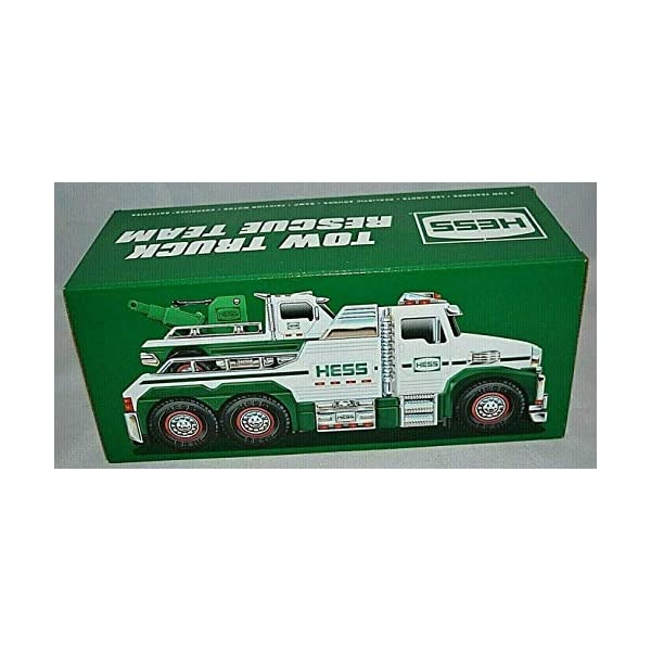 2019 Hess Tow Truck Rescue Team /& Minature Tow Truck With Sounds