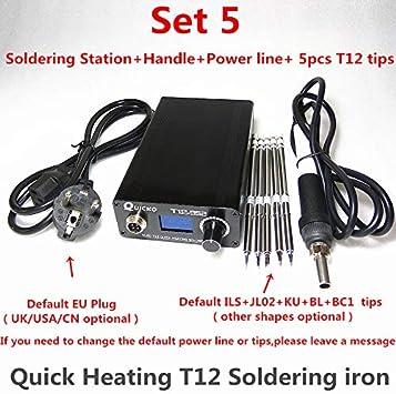 Soldador electrónico T12 Estación de soldadura de calefacción digital Plancha de soldadura Nueva versión STC T12 OLED T12-952