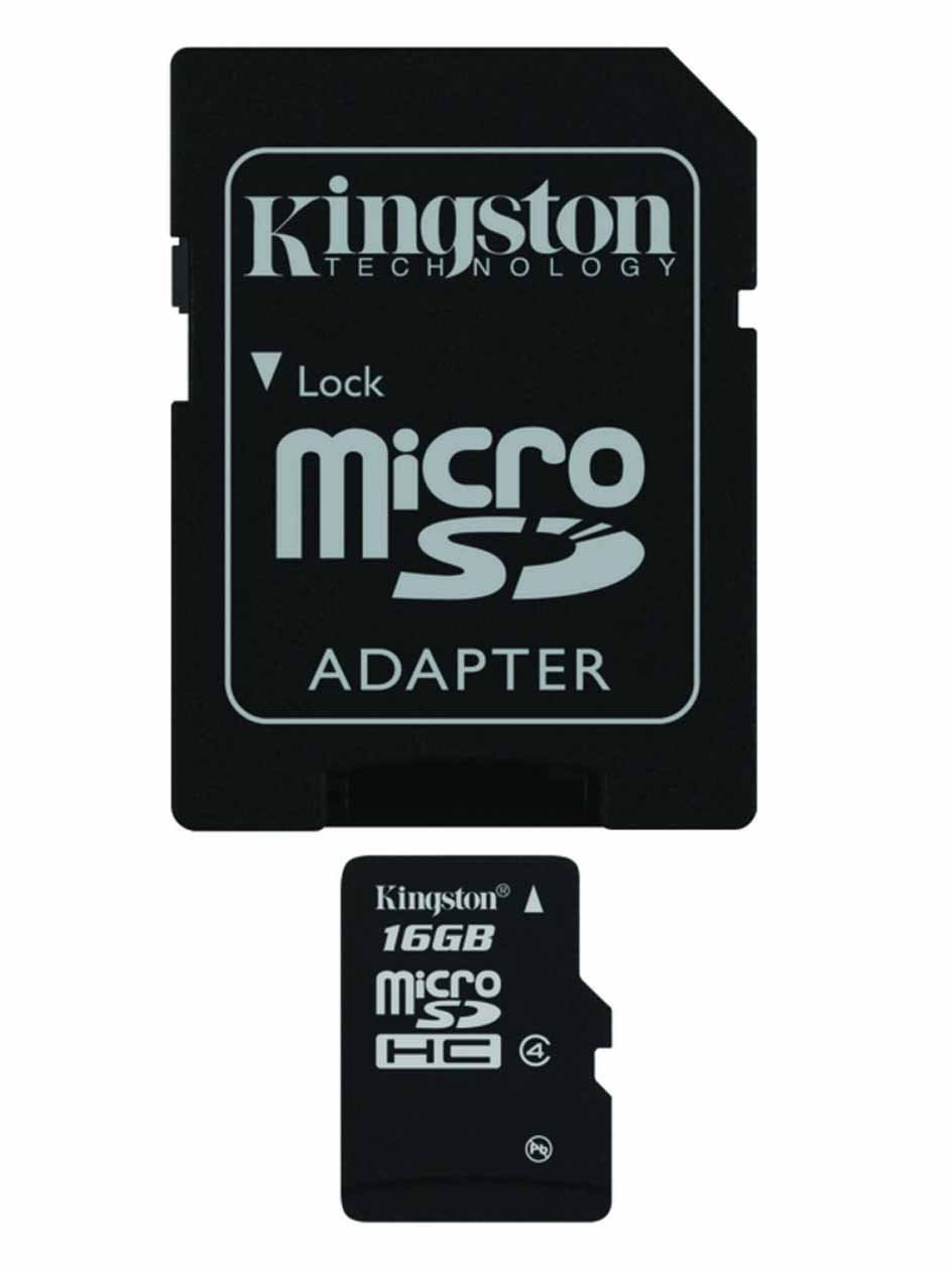 Professional Kingston MicroSDHC 16GB (16 Gigabyte) Card for FLIR T620 Thermal Camera Phone with custom formatting and Standard SD Adapter. (SDHC Class 4 Certified)