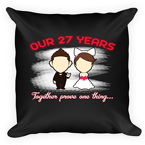 Wedding Anniversary Pillow. Best Wedding Anniversary Gifts For 27 Years Together For Couple