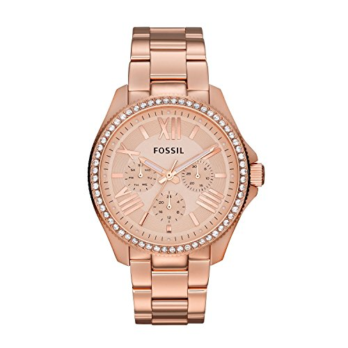 Fossil Women's AM4483 Cecile Rose Gold-Tone Watch with (Dial Fossil Watch)