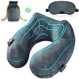 Jasonwell Almohada de Viaje Inflable Relajante Cuello Apoyo Travel Neck Pillow Inflatable para avion vuelos de larga distanci