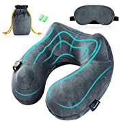 Jasonwell Inflatable Travel Pillow Best 360 Degree Neck Support Pillow Portable Planes U Shaped Pillow with Washable…