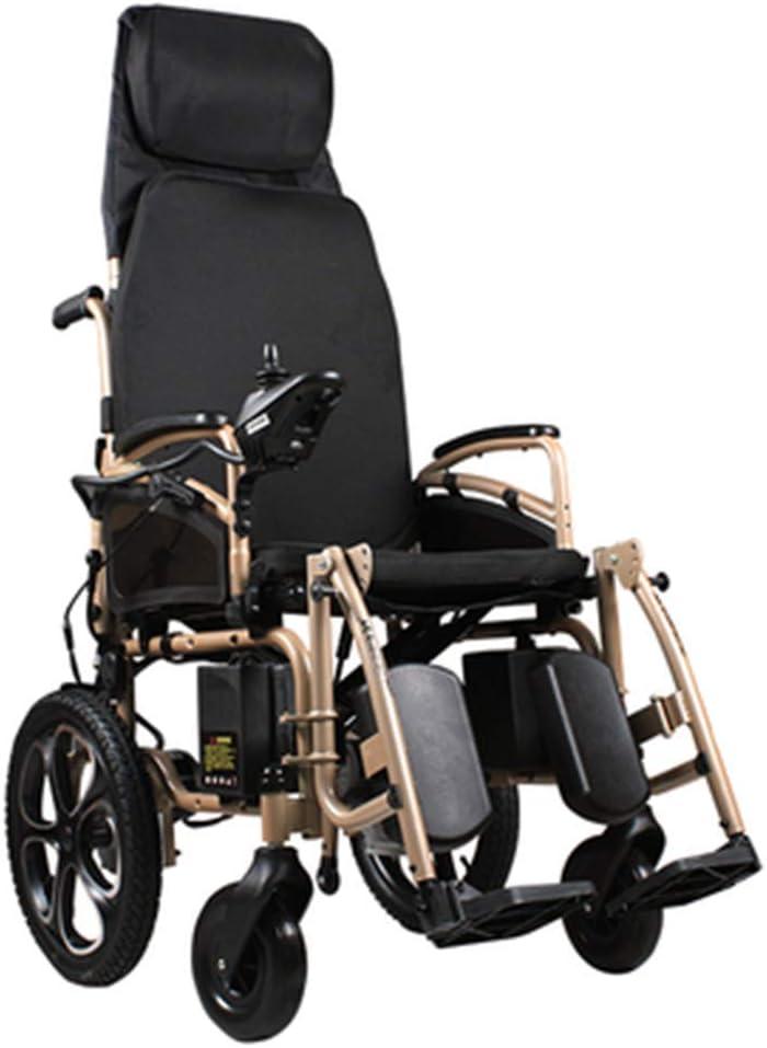 Silla de Ruedas eléctrica Plegable Ligera de 39 kg, Resistente y Duradera para el Uso, sillas de Ruedas motorizadas convenientes para Uso doméstico y al Aire Libre, portátil