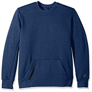 Russell Athletic Men's Cotton Rich Fleece Sweatshirt, Navy Heather, L