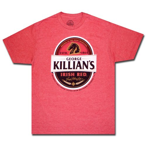 Select Beer T-shirt - Killian's Irish Red Faded Logo Beer Alcohol Adult T-Shirt Tee Select Shirt Size: Small