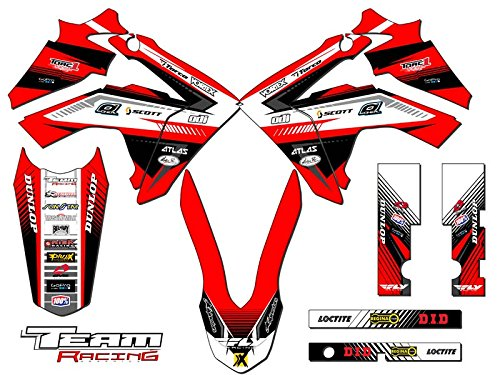 Team Racing Graphics kit compatible with Honda 2013-2018 CRF 125, ANALOG