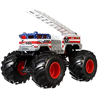Hot Wheels Monster Trucks Alarm die-cast 1:24 Scale Vehicle with Giant Wheels for Kids Age 3 to 8 Years Old Great Gift Toy Trucks Large Scales