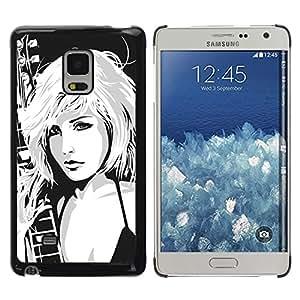 LECELL -- Funda protectora / Cubierta / Piel For Samsung Galaxy Mega 5.8 9150 9152 -- Hot Attractive Girl --