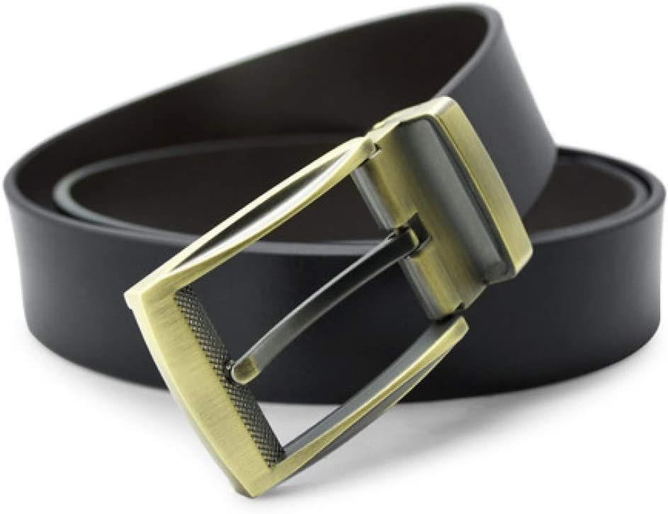 DENGDAI Mens Needle Buckle Belt widening Belt Mens Leather Belt Jeans Belt