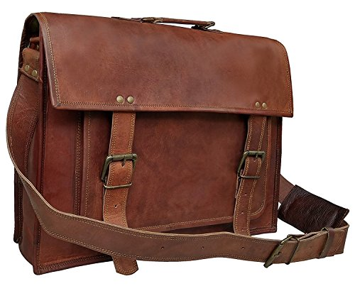 TUZECH Leather Briefcase Laptop Messenger Bag Hard Bound and Simple Styled Rich Leather Fits Laptop Upto 13 ()
