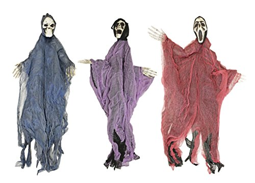 Set of 3 Hanging Hooded Skeletons With Bendable Movable Arms! Perfect for Your Next Halloween Gathering! (Next Halloween Costumes)