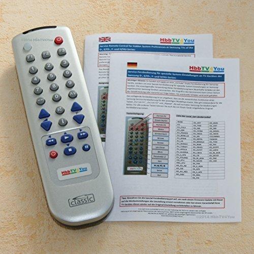 Service-Fernbedienung für Samsung H-Serie und HU-Serie UExxHU6900 UExxH6890 UExxH6870 UExxH6800 UExxH6770 UExxH6750 UExxH6740 UExxH6690 UExxH6620 UExxH6600 UExxH6500 UExxH6470 UExxH6410 UExxH6290 UExxH6270 UExxH5680 UExxH5670 UExxH5570
