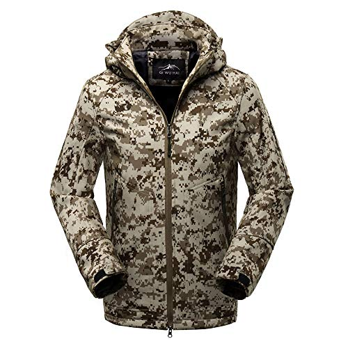 Baseball Badger Jerseys Solid (Sunhusing Men's Outdoor Camouflage Clothing Hooded Soft Shell Jacket Zipper Pocket Outfits Sports Coat)
