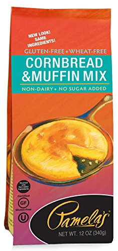 Mix Free Wheat Bread (Pamela's Products Gluten Free Cornbread & Muffin Mix, 12 Ounce Bags (Pack of 6))