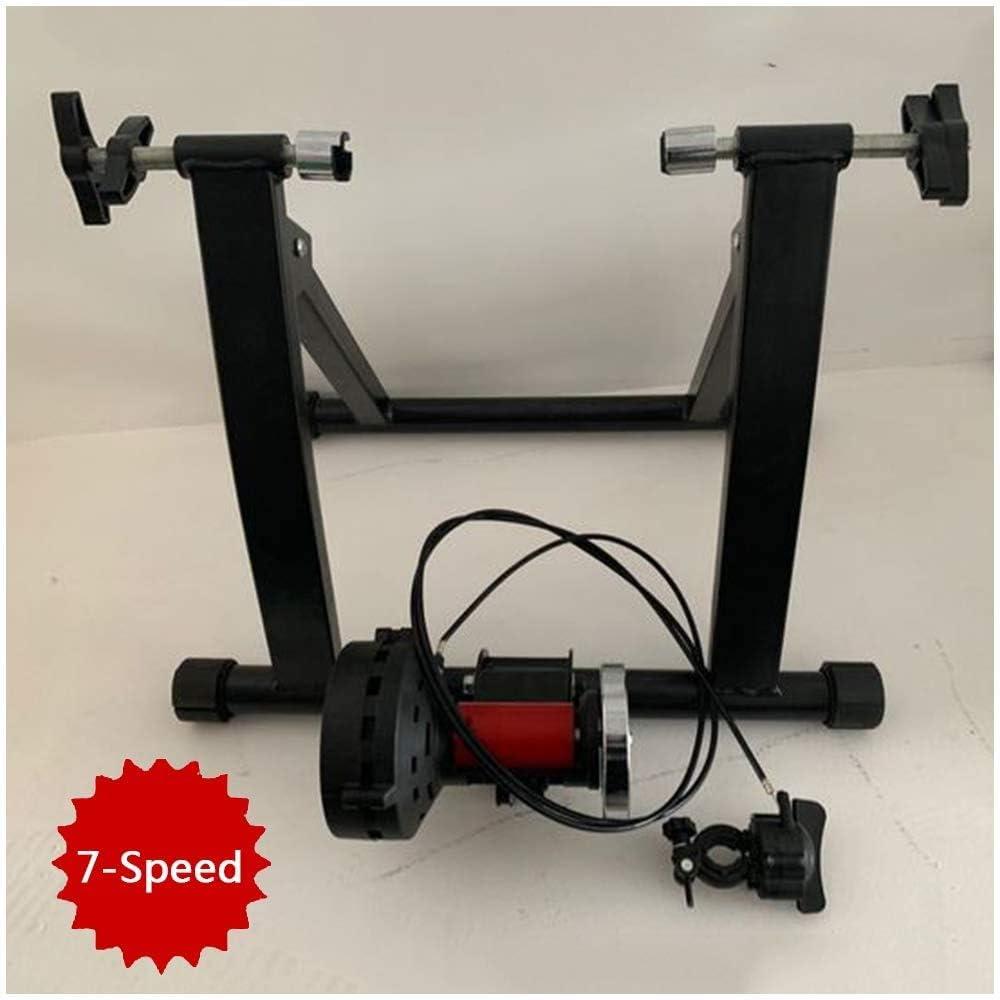 YYDE Indoor Bike Trainer Soporte Cubierta Soporte magn/ético de Bicicletas para Bicicletas Trainer Entrenador por Cubierta Trainer Bicicletas de Rodillos para Entrenamiento de Ciclismo Inicio,Rojo