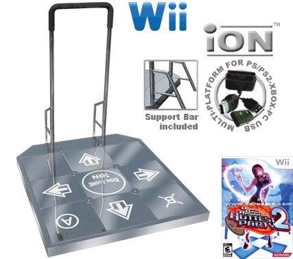 Wii Dance Dance Revolution DDR iON Arcade Metal Dance Pad with Handle Bar + Dance Dance Revolution D
