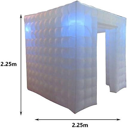 Cubo Inflable de la Tienda de la Cabina de la Foto de MOMOJA con 2 Puertas Tienda de la Cabina de la Foto del Aire portátil LED para el cumpleaños de la