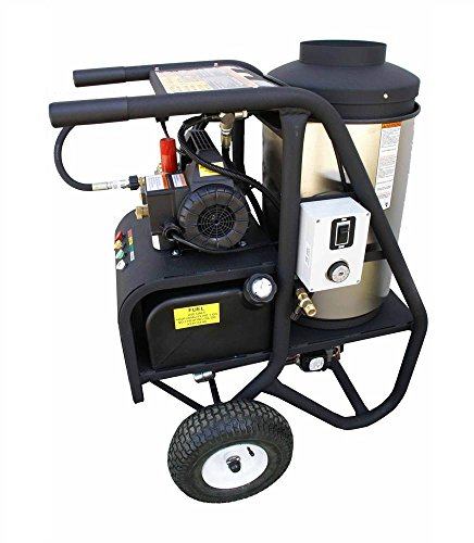 (Cam Spray 1450SHDE SH Series Portable Diesel Fired Electric Powered Hot Water Pressure Washer, 1450 psi, 50' Hose)