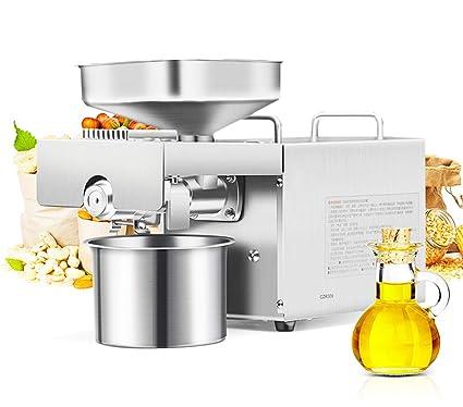 Amazon.com: 1200 W máquina de prensa de aceite automático ...