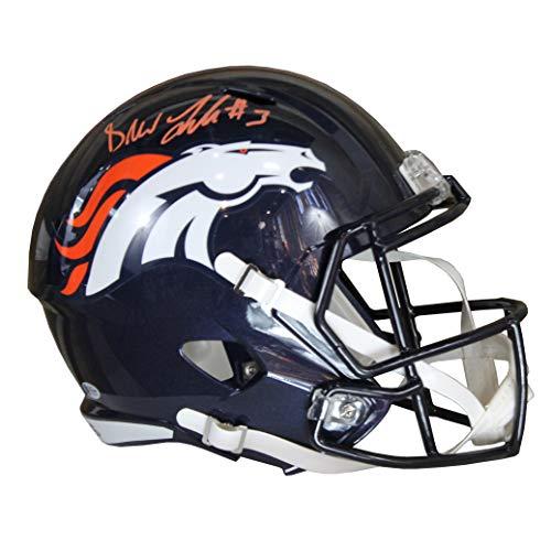 (rew Lock Autographed Denver Broncos Blue Riddell Speed Replica Full Size Helmet w/Beckettt)