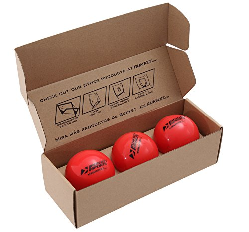 "Rukket 3 Weighted Baseballs / Softballs | Heavy Balls for Hitting, Batting, Pitching Practice (1lb. /16oz. 3"" diameter)"