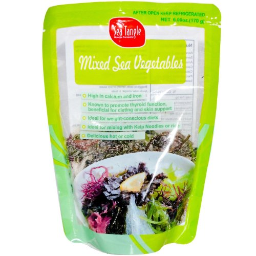 Sea Veggies Red Seaweed (Sea Tangle Noodle Company, Mixed Sea Vegetables, 6 oz (170 g) (2 PACK))